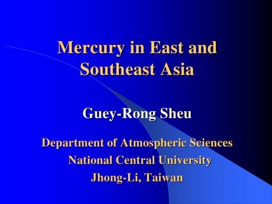 First page of Mercury in East and Southeast Asia