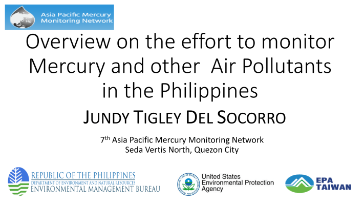 First page of Overview on the effort to monitor Mercury and other Air Pollutants in the Philippines