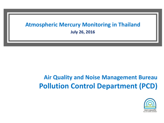 First page of Atmospheric Mercury Monitoring in Thailand