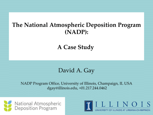First page of The National Atmospheric Deposition Program (NADP): A Case Study