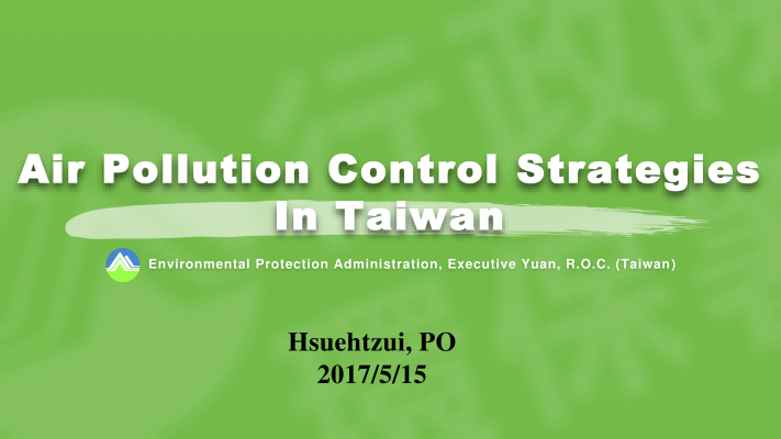 First page of Air Quality Control Strategies in Taiwan