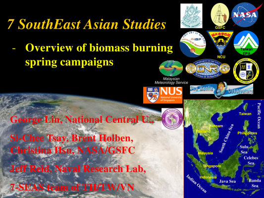 First page of Overview of Biomass Burning Spring Campaigns of Seven SouthEast Asian Studies