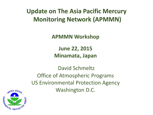 First page of Update on The Asia Pacific Mercury Monitoring Network (APMMN)