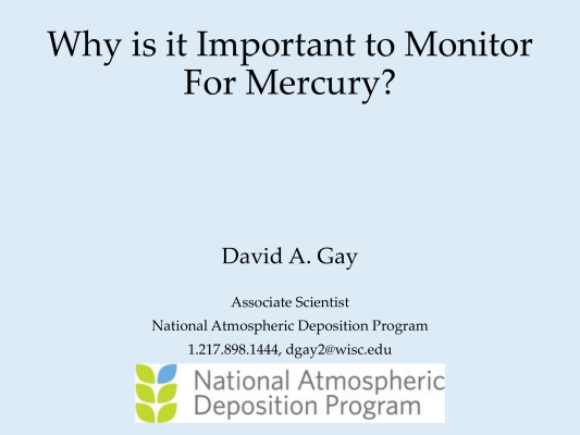 First page of Why is it Important to Monitor For Mercury