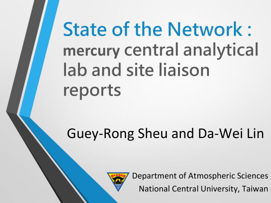First page of State of the Network_mercury central analytical lab and site liaison reports