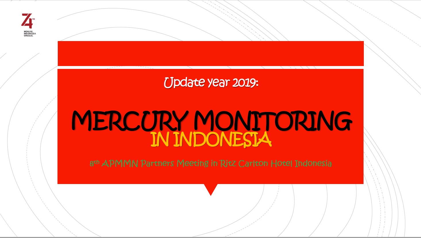 First page of Mercury Monitoring in Indonesia
