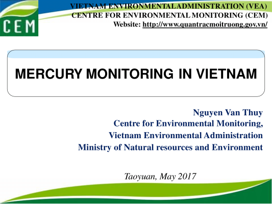 First page of Mercury Monitoring in Vietnam