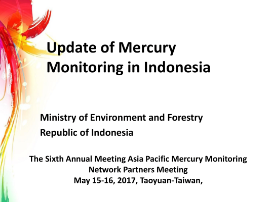 First page of Update of Mercury Monitoring in Indonesia