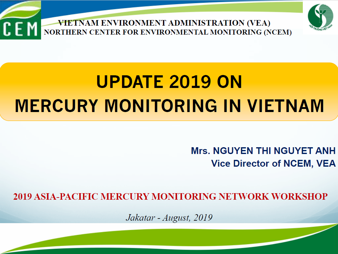 First page of Update 2019 ON MERCURY MONITORING IN VIETNAM