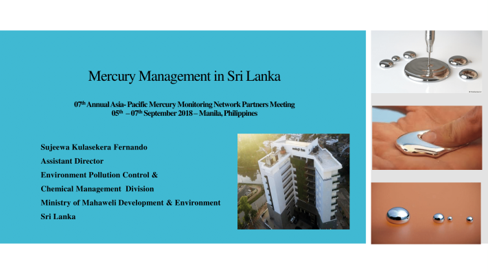 First page of Mercury Management in Sri Lanka