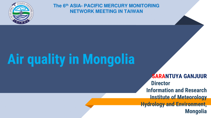 First page of Air quality in Mongolia