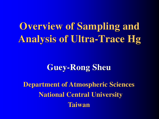 First page of Overview of Sampling and Analysis of Ultra-Trace Hg