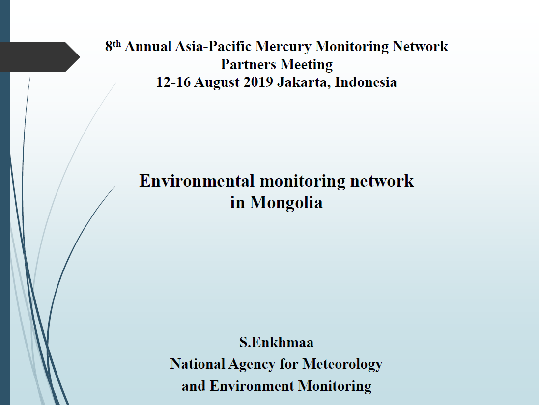 First page of Environmental monitoring network in Mongolia