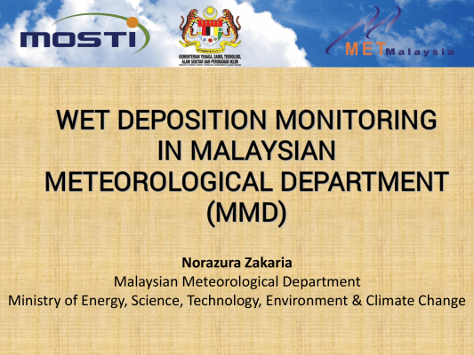 First page of Wet deposition Monitoring in Malaysian Meteorological Department