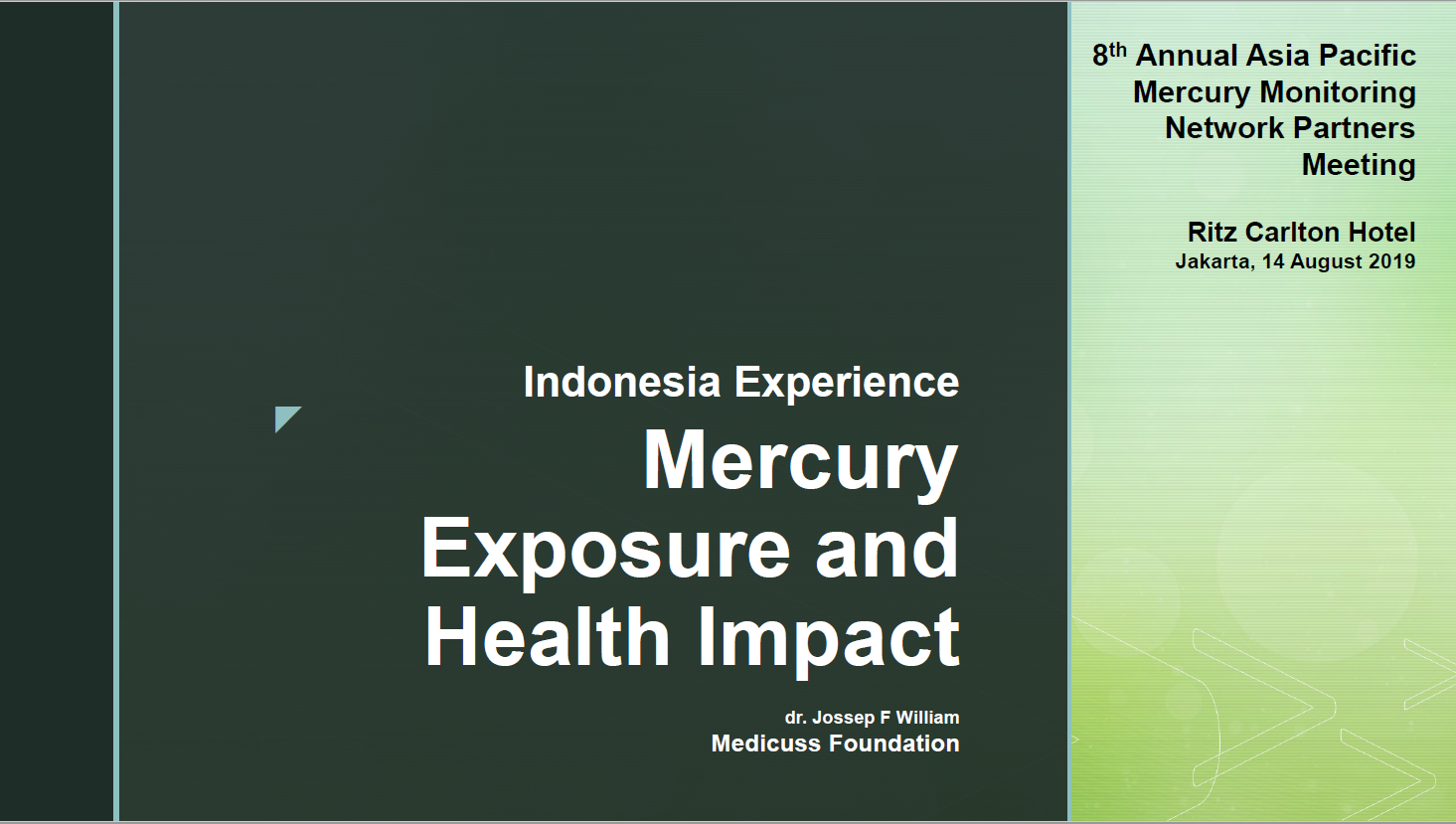 First page of Mercury Exposures and Health Impacts in Indonesia