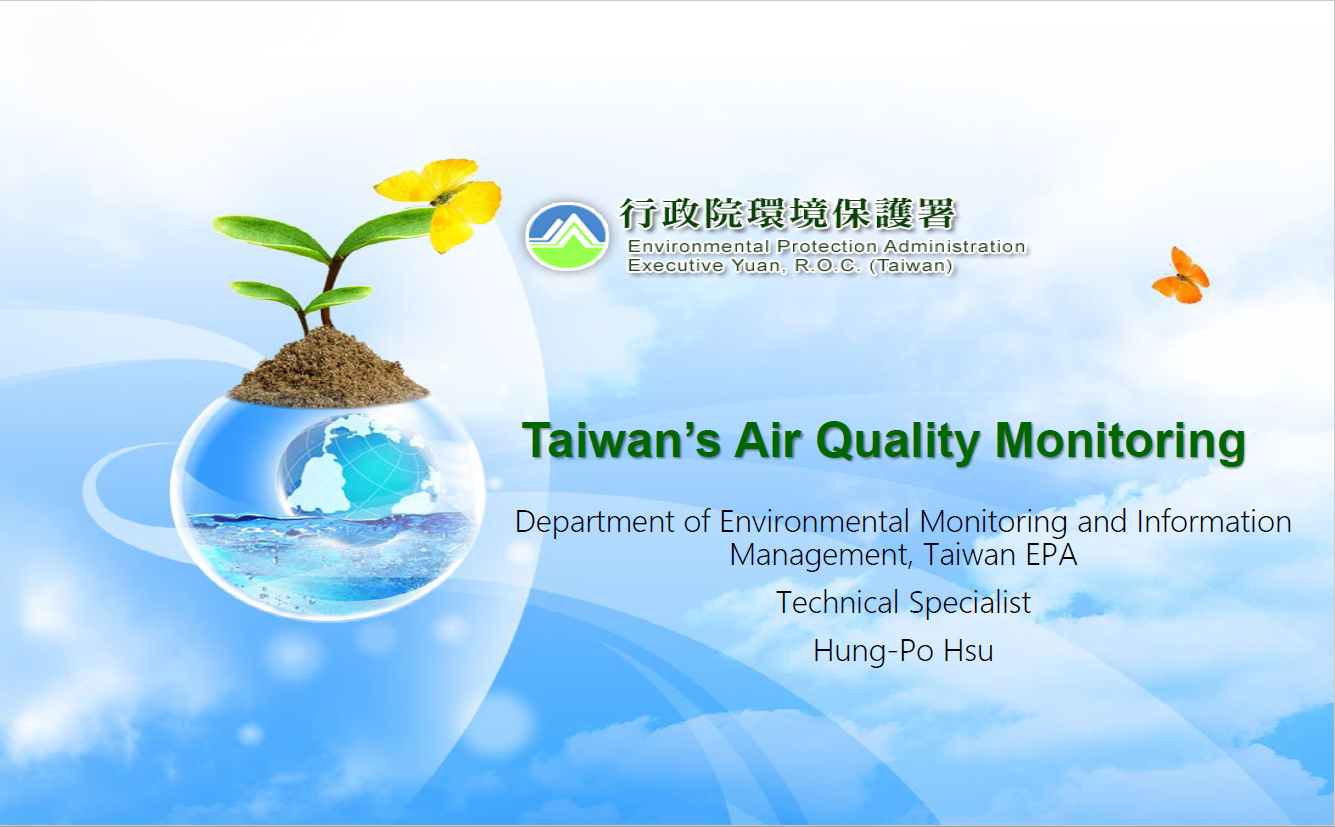 First page of Taiwan's Air Quality Monitoring