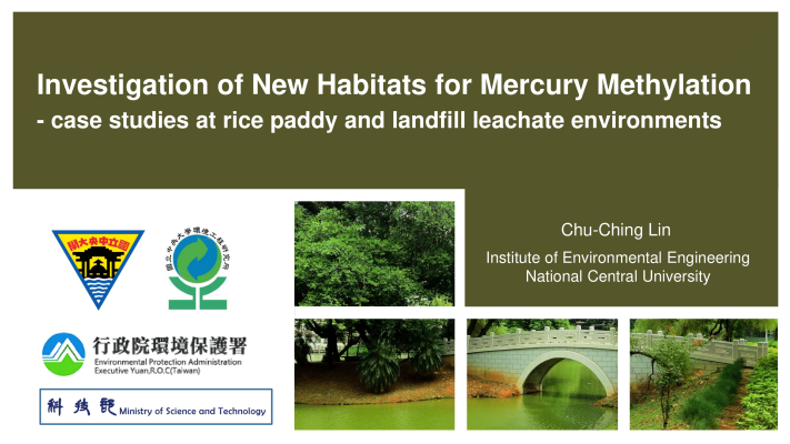 First page of Investigation of New Habitats for Mercury Methylation -case studies at rice paddy and landfill leachate environments