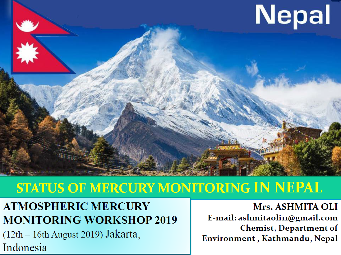 First page of Status of Mercury Monitoring in Nepal