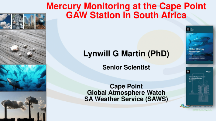 First page of Mercury monitoring at the Cape Point GAW Station in South Africa