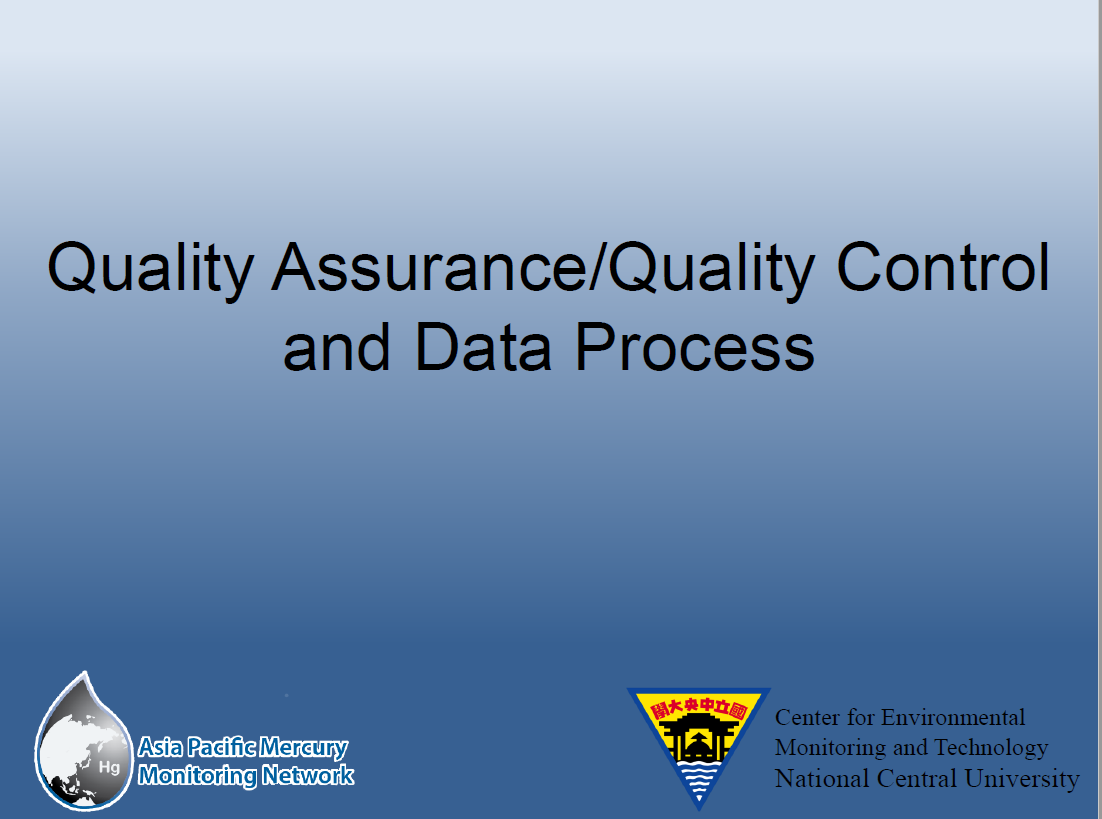 First page of QAQC and Data Process