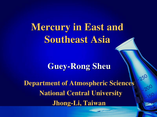 First page of Mercury in East & Southeast Asia