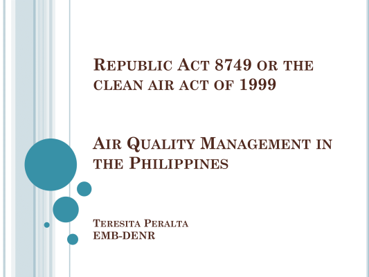 First page of Monitoring in the Philippines