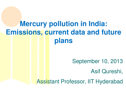 First page of Mercury pollution in India
