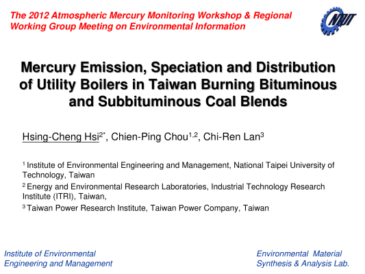 First page of Mercury Emission in Taiwan