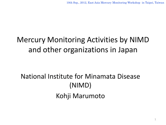 First page of Monitoring in Japan (Revised)