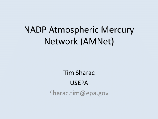 First page of NADP Atmospheric Mercury