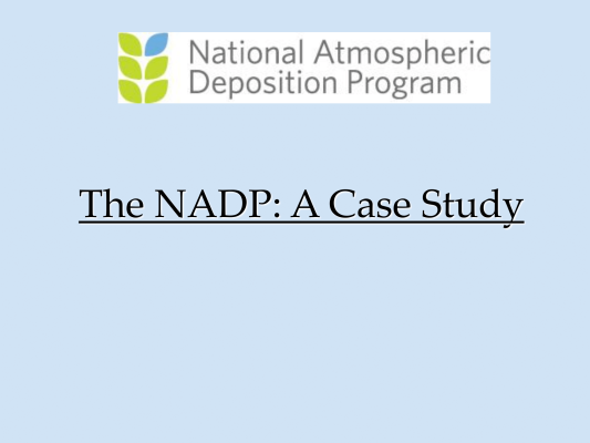 First page of NADP MDN AMNet Overview V1